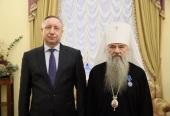 Митрополиту Санкт-Петербургскому Варсонофию вручен орден Почета