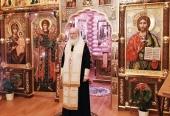 В канун дня памяти апостола Андрея Первозванного Святейший Патриарх Кирилл совершил всенощное бдение в Александро-Невском скиту