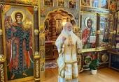 В день памяти апостола Андрея Первозванного Святейший Патриарх Кирилл совершил Литургию в Александро-Невском скиту