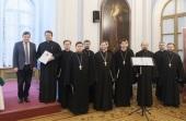 Хор духовенства Санкт-Петербургской митрополии награжден благодарственным письмом от вице-губернатора Санкт-Петербурга