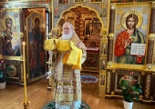 В день памяти святителя Николая Чудотворца Святейший Патриарх Кирилл совершил Литургию в Александро-Невском скиту