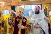 В день памяти святителя Николая Патриарший экзарх всея Беларуси возглавил престольный праздник в храме поселка Привольный Минского района