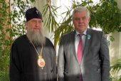 В Нур-Султане состоялась встреча митрополита Астанайского Александра с заместителем председателя Мажилиса Парламента Казахстана В.К. Божко