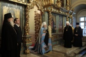В день 55-летия архиерейской хиротонии митрополит Крутицкий Ювеналий совершил Литургию в Новодевичьем монастыре г. Москвы