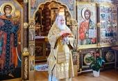 В Неделю 29-ю по Пятидесятнице Святейший Патриарх Кирилл совершил Литургию в Александро-Невском скиту