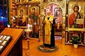 В канун Недели 30-й по Пятидесятнице Святейший Патриарх Кирилл совершил всенощное бдение в Александро-Невском скиту