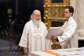 В Рождественский сочельник Святейший Патриарх Кирилл совершил Литургию в Храме Христа Спасителя