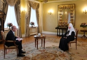 Patriarch Kirill Gives Christmas Interview to Rossia TV