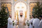 В праздник Рождества Христова Патриарший экзарх Западной Европы совершил Литургию в Троицком кафедральном соборе в Париже