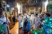 В праздник Собора Пресвятой Богородицы Предстоятель Украинской Православной Церкви возглавил Литургию во Флоровском монастыре Киева