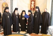 Representatives of Russian Ecclesiastical Mission congratulate Patriarch Theophilos of Jerusalem on the Nativity of Christ