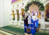 Митрополит Астанайский Александр возглавил торжества по случаю престольного праздника храма в честь Собора Пресвятой Богородицы в Алма-Ате