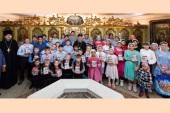Митрополит Астанайский Александр встретился с воспитанниками епархиального детского дома «Солнышко»