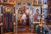 В Неделю 31-ю по Пятидесятнице Святейший Патриарх Кирилл совершил Литургию в Александро-Невском скиту