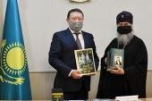 Состоялась встреча митрополита Астанайского Александра с акимом Северо-Казахстанской области