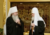 Congratulations from the Primate of the Russian Orthodox Church to Metropolitan Tikhon of All America and Canada on the anniversary of his enthronement