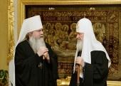 Поздравление Святейшего Патриарха Кирилла Блаженнейшему Митрополиту всей Америки и Канады Тихону с годовщиной интронизации