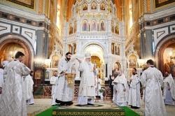 В Крещенский сочельник Святейший Патриарх Кирилл совершил Литургию в Храме Христа Спасителя в Москве
