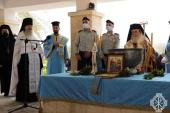 Блаженнейший Патриарх Иерусалимский Феофил совершил чин великого освящения воды на реке Иордан