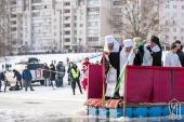 В праздник Богоявления Предстоятель Украинской Православной Церкви совершил Литургию в Киево-Печерской лавре