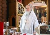 В праздник Крещения Господня Святейший Патриарх Кирилл совершил Литургию в Александро-Невском скиту