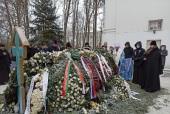 На девятый день после кончины митрополита Филарета (Вахромеева) в Успенском Жировичском монастыре совершены заупокойные богослужения