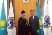 Состоялась встреча главы Казахстанского митрополичьего округа с акимом Алма-Аты