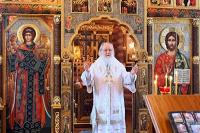 В Неделю 33-ю по Пятидесятнице Святейший Патриарх Кирилл совершил Литургию в Александро-Невском скиту