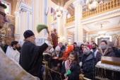 В Неделю по Богоявлении митрополит Астанайский Александр совершил Литургию в Вознесенском кафедральном соборе Алма-Аты
