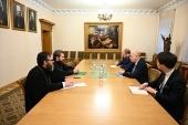 Митрополит Волоколамский Иларион встретился с главой французской дипломатической миссии в Москве