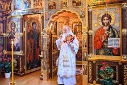 Святейший Патриарх Кирилл совершил Божественную литургию в 12-ю годовщину избрания на Московский Патриарший престол
