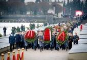 Делегация Санкт-Петербургской епархии приняла участие в возложении венков на Пискаревском кладбище по случаю 77-й годовщины снятия блокады Ленинграда
