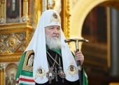 Слово Святейшего Патриарха Кирилла в двенадцатую годовщину интронизации после Литургии в Храме Христа Спасителя