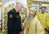 В Санкт-Петербурге освящен домовый храм Адмиралтейства, открытый после реставрации