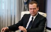 Поздравление заместителя председателя Совета Безопасности России Д.А. Медведева Святейшему Патриарху Кириллу с годовщиной интронизации