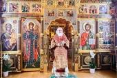 В праздник Собора новомучеников и исповедников Церкви Русской Святейший Патриарх Кирилл совершил Литургию в Александро-Невском скиту