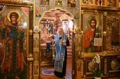 В канун праздника Сретения Господня Святейший Патриарх Кирилл совершил всенощное бдение в Александро-Невском скиту