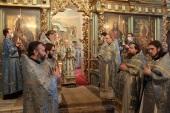 В праздник Сретения Господня Патриарший наместник Московской епархии совершил Литургию в Новодевичьем монастыре г. Москвы