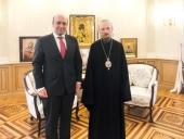 Патриарший экзарх всея Беларуси встретился с послом Сирии в Белоруссии