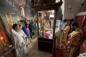 Блаженнейший Патриарх Иерусалимский Феофил совершил Литургию в монастыре святого Симеона Богоприимца