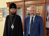 Патриарший экзарх Западной Европы встретился c главой Россотрудничества Е.А. Примаковым