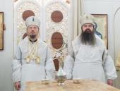 Патриарший экзарх всея Беларуси освятил храм святителя Николая Мирликийского в агрогородке Большевик Минской области