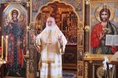 В Неделю о блудном сыне Святейший Патриарх Кирилл совершил Литургию в Александро-Невском скиту
