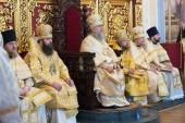 Во Вселенскую родительскую субботу глава Казахстанского митрополичьего округа совершил Литургию в Вознесенском кафедральном соборе Алма-Аты