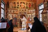 В Неделю о Страшном Суде Святейший Патриарх Кирилл совершил Литургию в Александро-Невском скиту