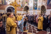 В Неделю о Страшном Суде Блаженнейший митрополит Онуфрий совершил Литургию в Киево-Печерской лавре