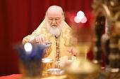 В Неделю сыропустную Предстоятель Русской Церкви совершил Литургию в Храме Христа Спасителя