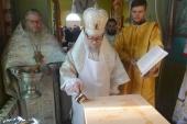 В Сарненской епархии освятили новый храм Украинской Православной Церкви, сооруженный вместо захваченного раскольниками