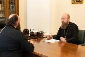 Председатель Финансово-хозяйственного управления провел совещание по вопросу реставрации Краснохолмского Антониева монастыря в Тверской области