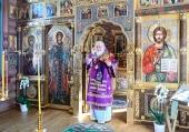 В Неделю 2-ю Великого поста Святейший Патриарх Кирилл совершил Литургию в Александро-Невском скиту
